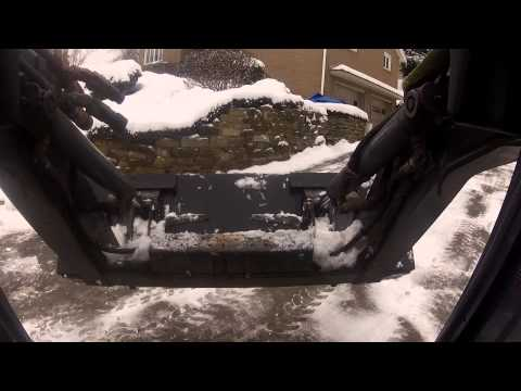 Winter fun in the skidsteer