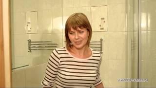 Ремонт ванной и туалета, зеркало в ванной на всю стену, душевой угол в ванной  на Купчинской 25
