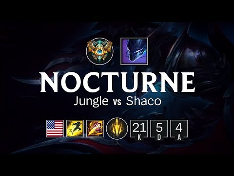 Nocturne Jungle vs Shaco - NA Challenger Patch 8.11