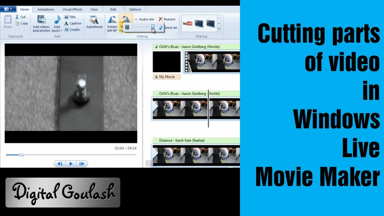 Windows movie maker made easy cutting parts out of your video windows movie maker made easy cutting parts out of your video youtube ccuart Images