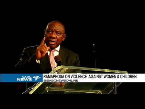 Ramaphosa launches Campaign against abuse of Women and Children