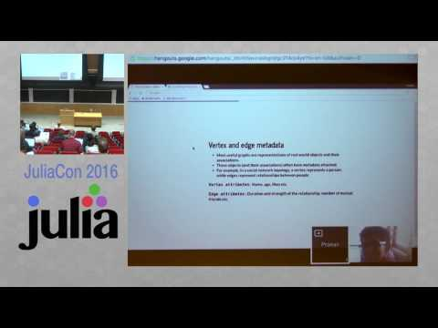 JuliaCon 2016 | Parallelized Graph Processing in Julia | Pranav Thulasiram Bhat