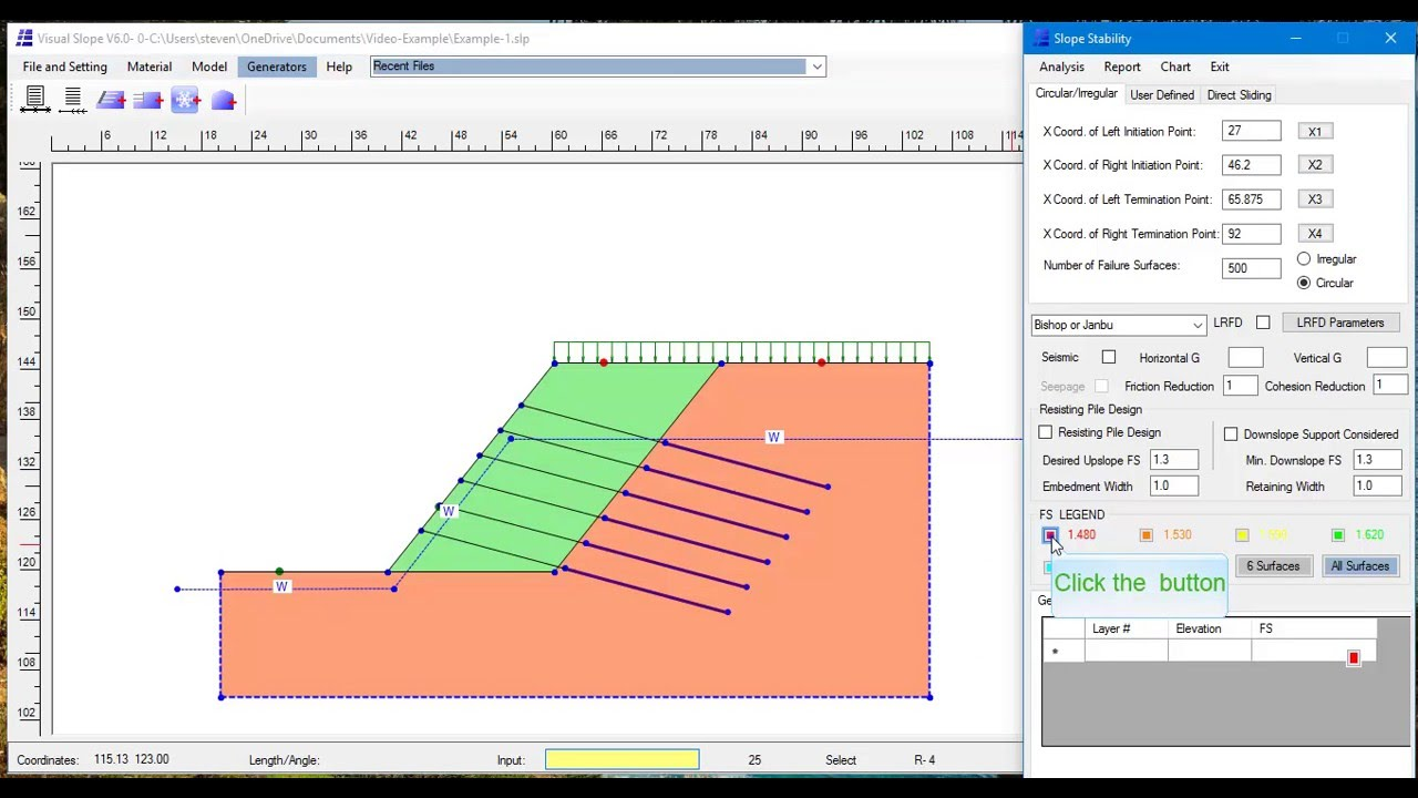 Soil Nailing Design With Visual Slope V6 Youtube