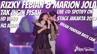 Download lagu RIZKY FEBIAN MARION JOLA TAK INGIN PISAH LIVE SPOTIFY ON STAGE JAKARTA 2019