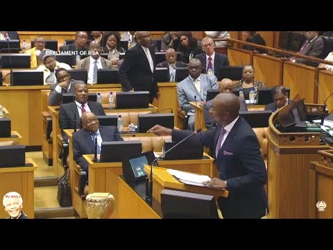 "Drama In Parliament ""Jacob Zuma Killed The ANC"" Mmusi Maimane DA"