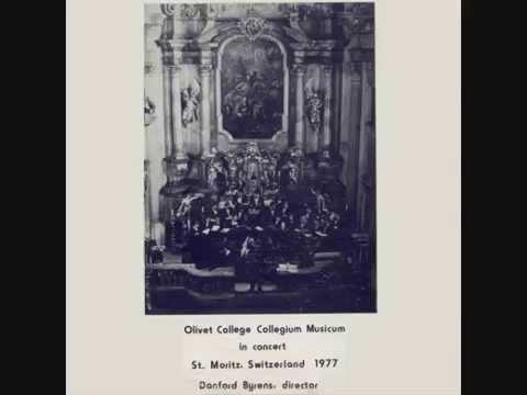 "Olivet College Collegium Musicum - ""Oh Where Shall Wisdom Be Found"" - 1977"