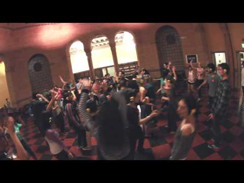 UCLA Silent Disco in Powell Library (HD)