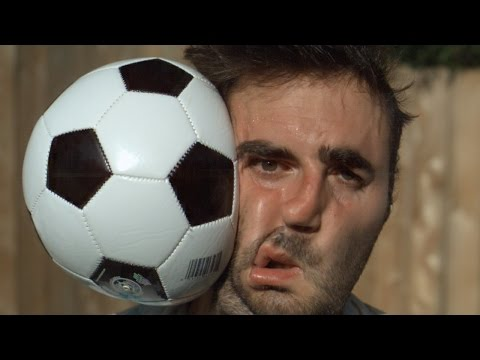 Football vs Face 1000x Slower - The Slow Mo Guys