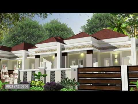 rumah minimalis model bali etnic di makassar - youtube