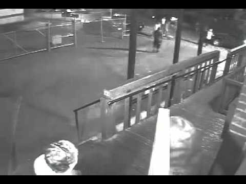 Security camera footage from Dewdney assault, slowed down