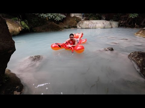 I broke a guinness record!?!? Erawan Falls Pokemon Tour   Roei Kashi   Kanchanaburi, Thailand