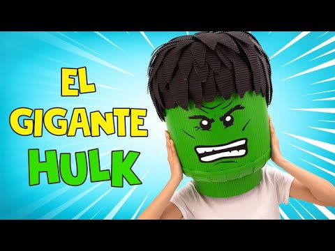 Disfraz del Hulk el destructor hecho de cartón