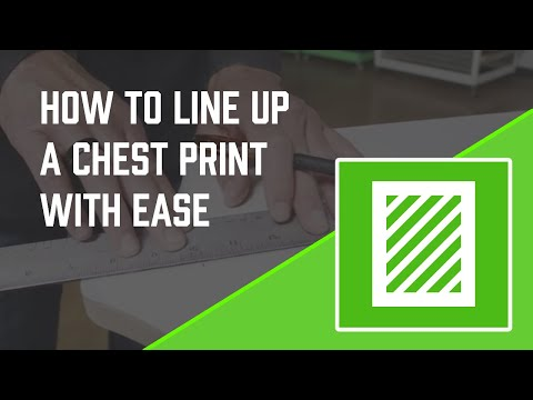 How to Screen Print: Easiest Way to Line up a Chest Print