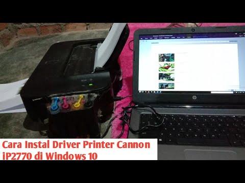 TUTORIAL CARA MENGINSTAL DRIVER CANON IP 2870.