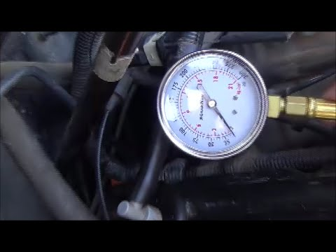 Checking Dodge Magnum engine oil pressure using a mechanical gauge