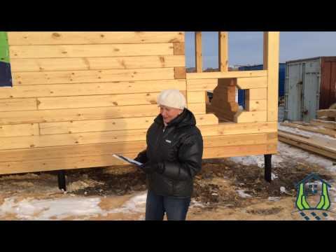 Отзыв о строительстве дома из строганного бруса 180 кв м  Район п Арей