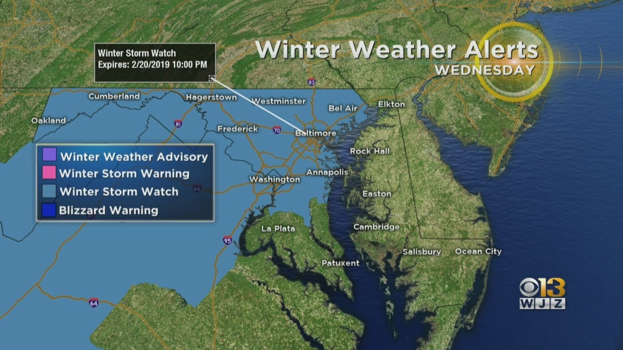 Maryland Weather: Winter Storm Watch Issued For Wednesday ...