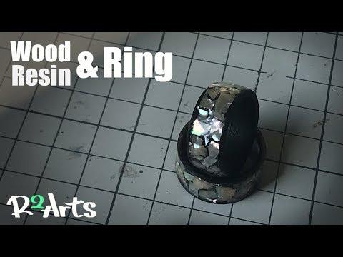 Making a Resin & Wood ring/자개 반지/레진 나무 반지 만들기/레진공예,레진아트.우드링