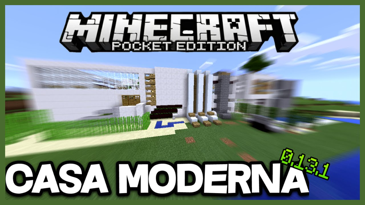 Descarga epica casa moderna para minecraft pe 1 for Casa moderna minecraft 0 12 1