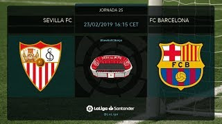 Calentamiento Sevilla FC vs FC Barcelona