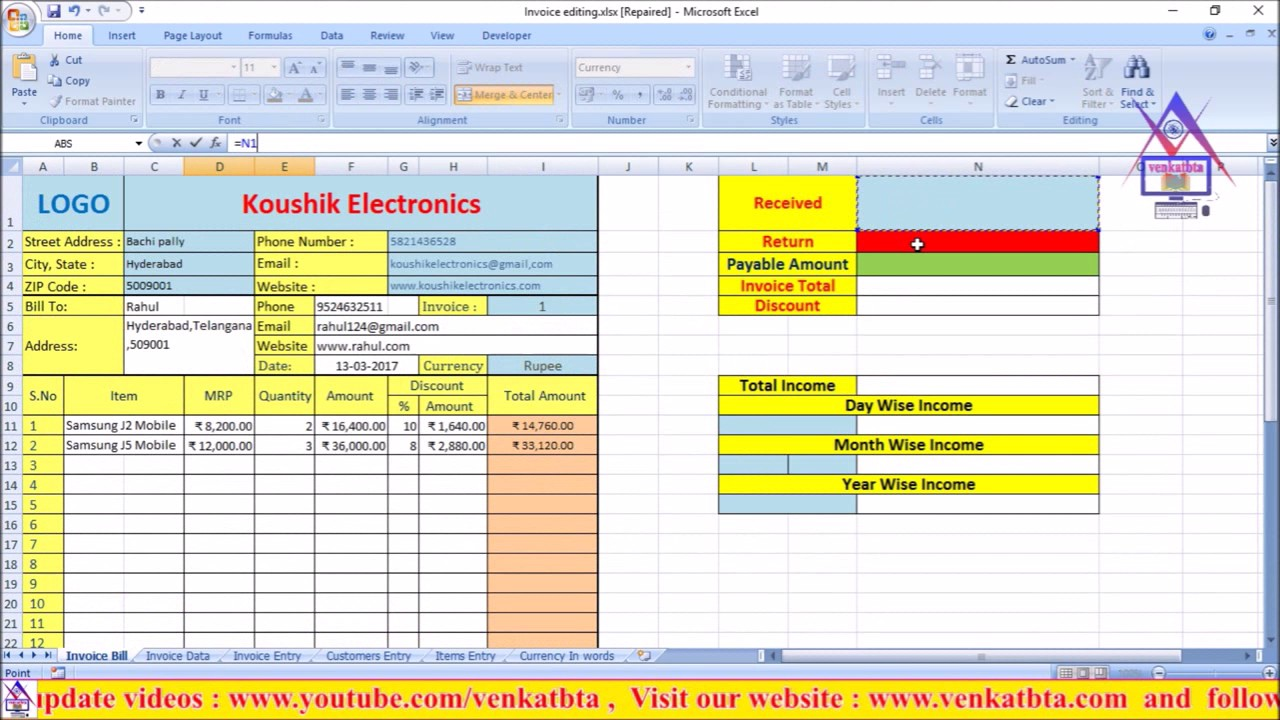 How To Createmakeprepare Invoice Billing Software In Excel For Any - Create billing invoice