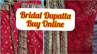 Buy Net Bridal Dupatta online!!How to use different border|| Net Dupatta Design 😍