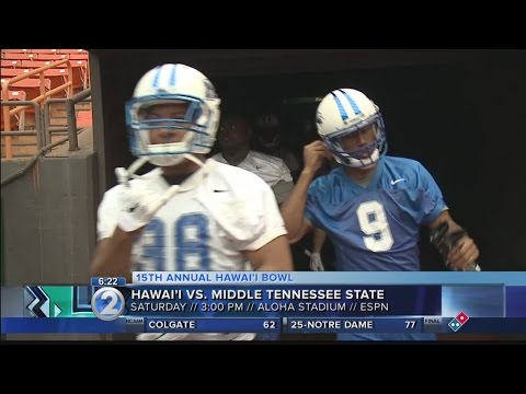 'Bows and Blue Raiders Kick Off Hawaii Bowl Week at Aloha Stadium