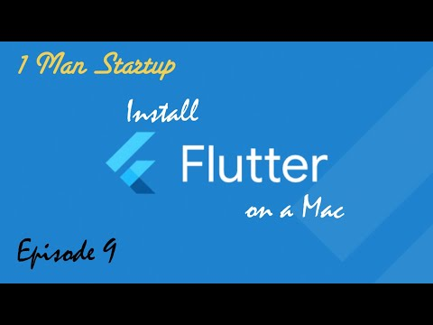 (Ep9) How to Install Flutter: Setup Flutter on Mac and Get Demo Project Running