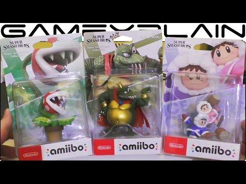 Super Smash Bros. Ultimate - Piranha Plant, King K. Rool & Ice Climbers amiibo UNBOXING thumbnail