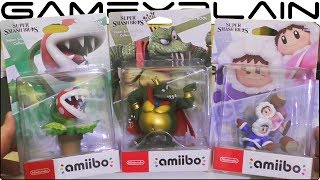 Super Smash Bros. Ultimate - Piranha Plant, King K. Rool & Ice Climbers amiibo UNBOXING