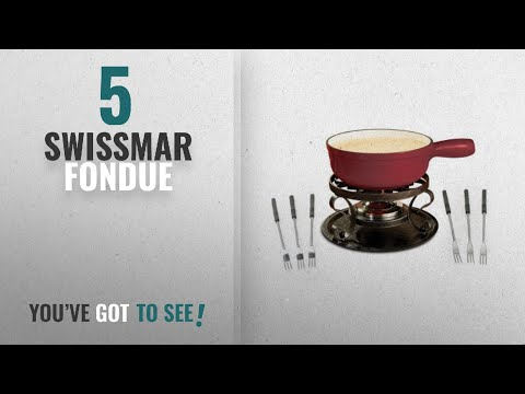 Best Swissmar Fondue [2018]: Swissmar KF-66517 Lugano 2-Quart Cast Iron Cheese Fondue Set, 9-Piece,