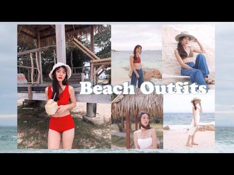 BEACH OUTFIT IDEAS แต่งตัวไปทะเล คลิปนี้มีบอกพิกัดและราคา l Frennicha