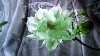 Постельное бельё из сатина и шёлка 2 спальное - АР - Зелёный цветок(Постельное бельё зеленого цвета с большим, зеленым цветком., 2014-03-24T11:44:52.000Z)