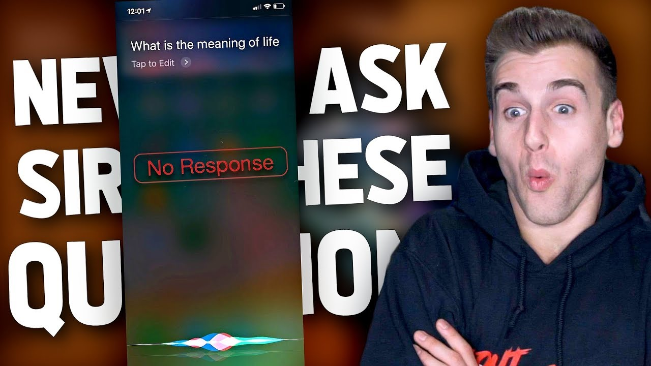 Questions You Should NEVER Ask Siri - YouTube