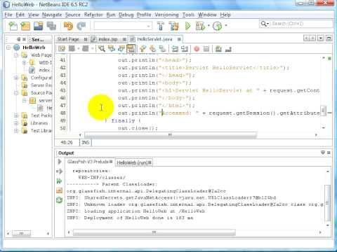 Simple Web App Using NetBeans And GlassFish V3