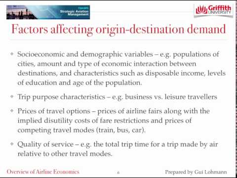 Mini lecture Topic 3 Airline Economics Market Demand - Dr Gui Lohmann