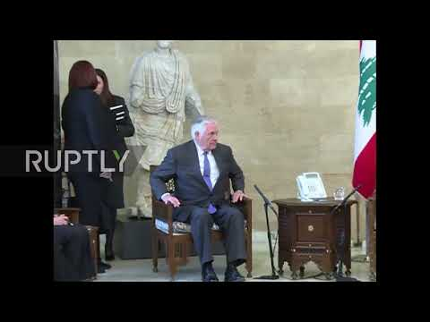 Lebanon: Tillerson left waiting for Lebanese President and Foreign Minister