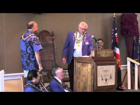"Andrew K. Watson ""Honolulu BPOE #616 Officer Installation Ceremonies"" March 20, 2016"