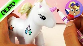 Crayola jednorožec se smývatelnými fixy   DIY Unicorn Set   Ukázka