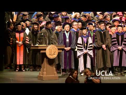 UCLA Doctoral Hooding Ceremony 2017