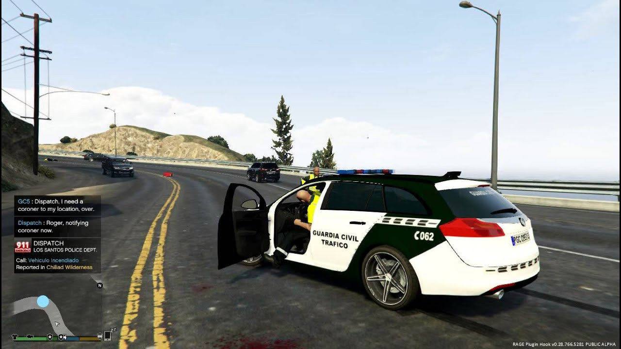 Great Lspdfr Gta V Pc Opel Insignia Estate Guardia Civil Trafico Rcp Y  Sospechosos Armados Youtube With Guardia Civil Trafico Zaragoza.