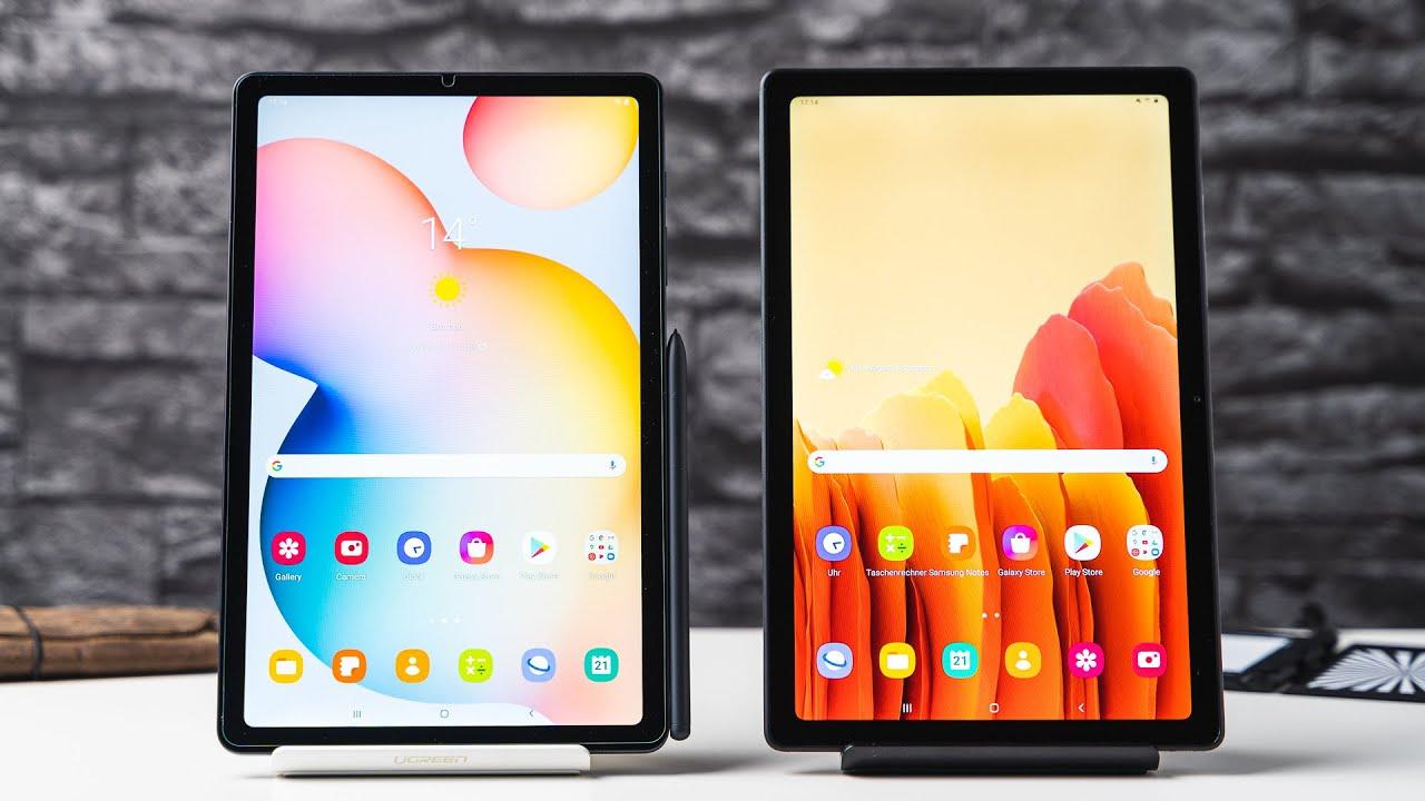 Comparison: Samsung Galaxy Tab A7 vs. S6 Lite with S Pen - YouTube