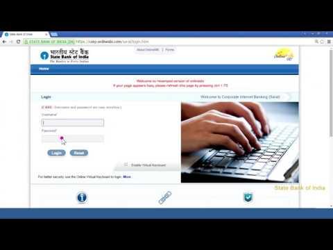 SBI Corporate Internet Banking Saral: First Time Login