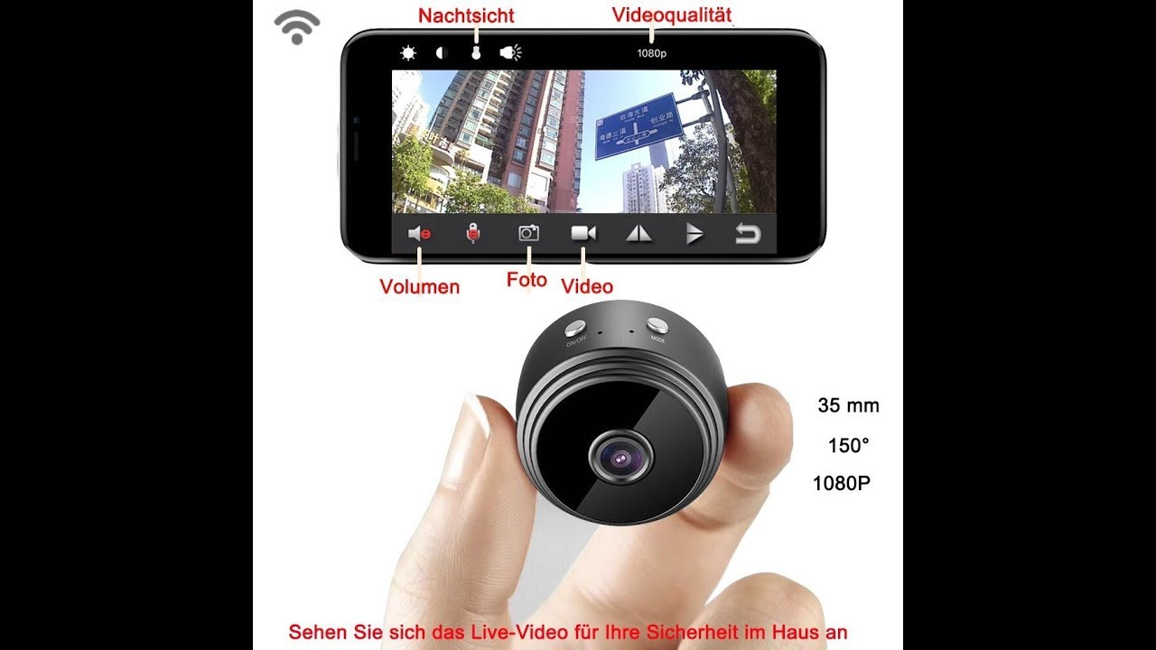 Mini Kamera HD 1080P Kamera Camera Webcam Überwachungskamera IR Nachtsicht