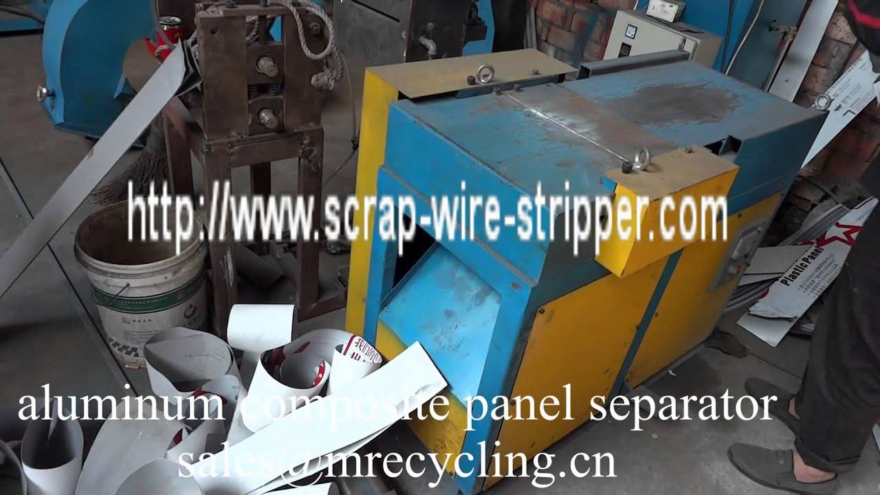 aluminium composite panel separator - YouTube