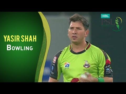 PSL 2017 Match 6: Peshawar Zalmi v Lahore Qalandars - Yasir Shah Bowling
