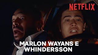 Whindersson Nunes dá uma carona a Marlon Wayans e coisas estranhas acontecem   Netflix