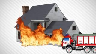 Мультик про машинку . Пожарная машинка мультфильм.