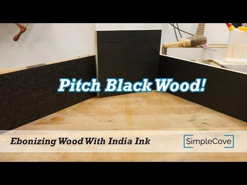 Ebonizing Wood With India Ink - Finishing 101 Series