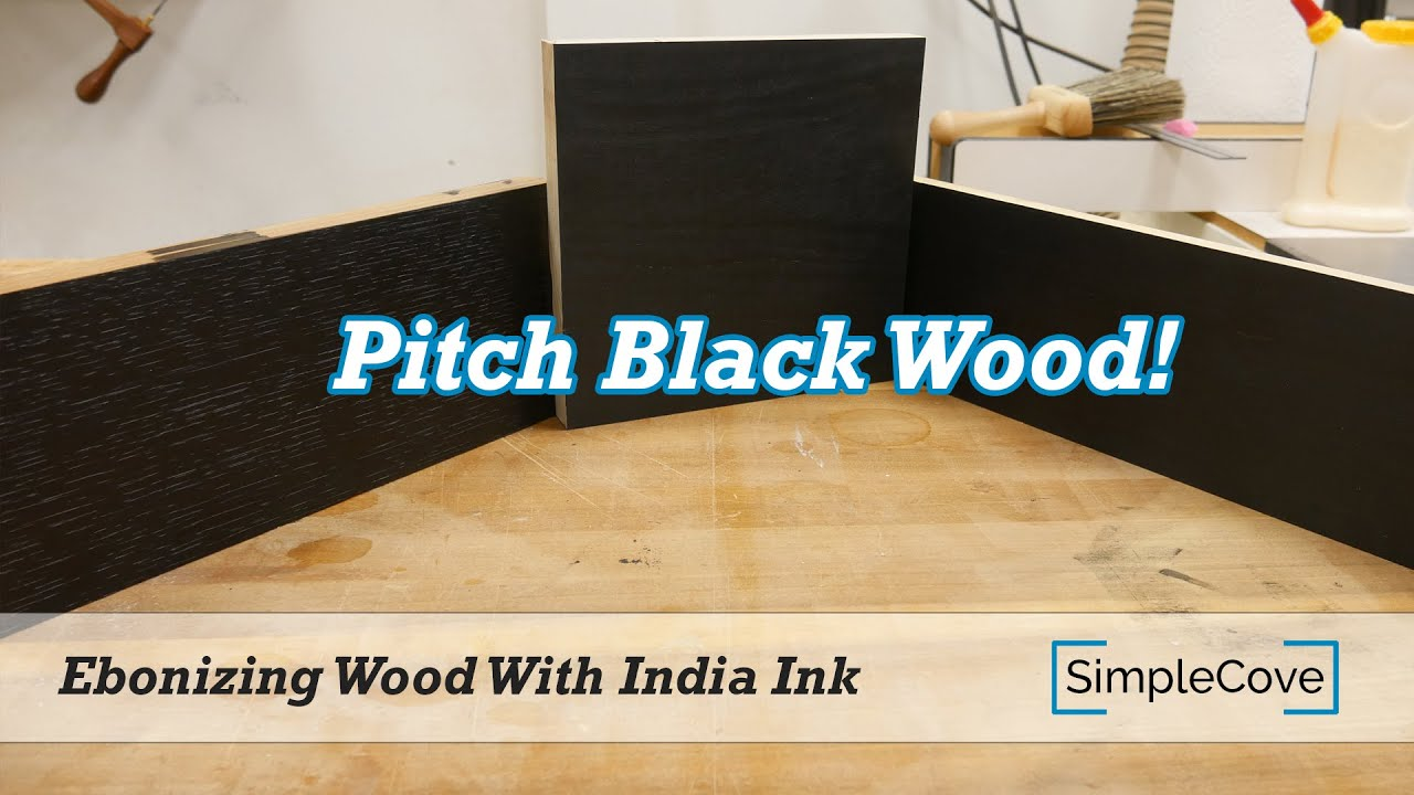 India Ink On Wood